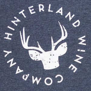 Close up of Hinterland logo tee