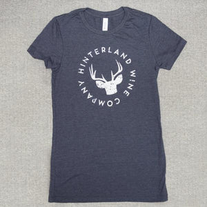 Hinterland logo tee — Ladies 'slim' fit