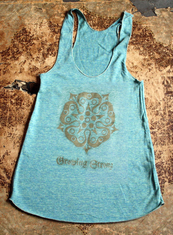 House Tyrell Rose Sigil / Growing Strong / Ladies Racerback Tank