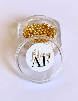 Metal Caviar Beads - Gold