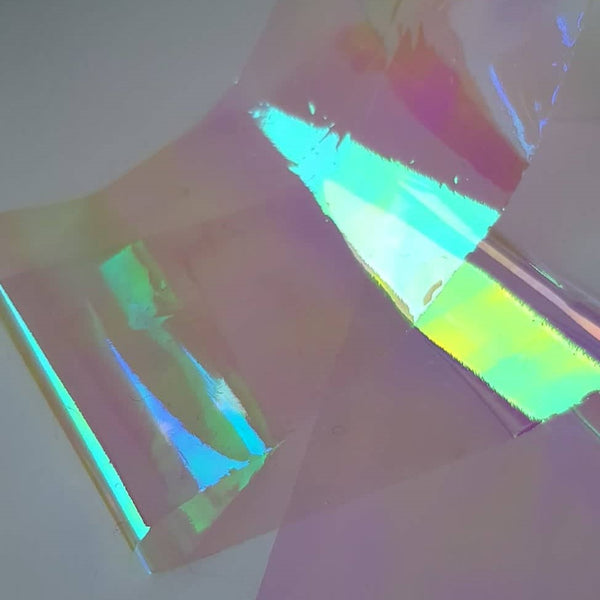 Holographic Glass Film - Blue/Green