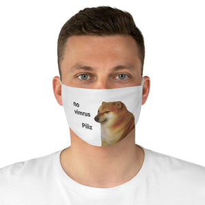 Scared Doge Meme Face Mask - Dankest Meme Merch