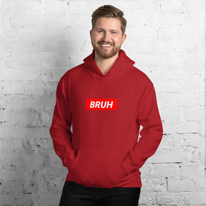 Bruh Red Box Hoodie - Dankest Meme Merch
