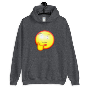 Thinking Emoji With Red Eye Hoodie - Dankest Meme Merch