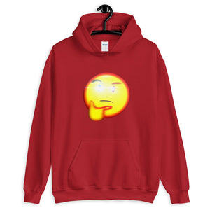 Thinking Emoji With Red Eye Hoodie