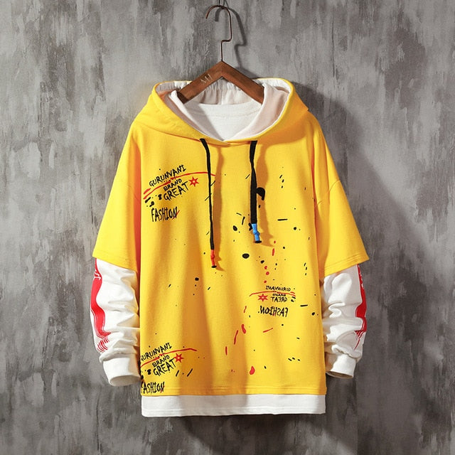 Leaf Letter Printing Fashion Hoodie - Dankest Meme Merch