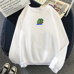 Sad Mini Pepe Hoodie - Dankest Meme Merch