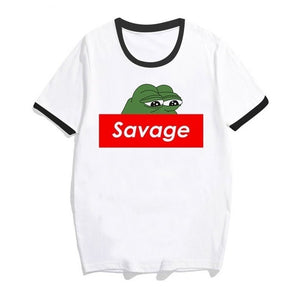 Savage Pepe Short Sleeve O-Neck T-Shirts - Dankest