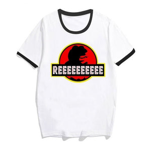 Reeee Short Sleeve O-Neck T-Shirts - Dankest Meme Merch