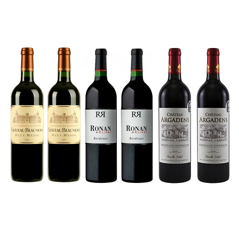 Bordeaux Red 6 Mixed Wine Case