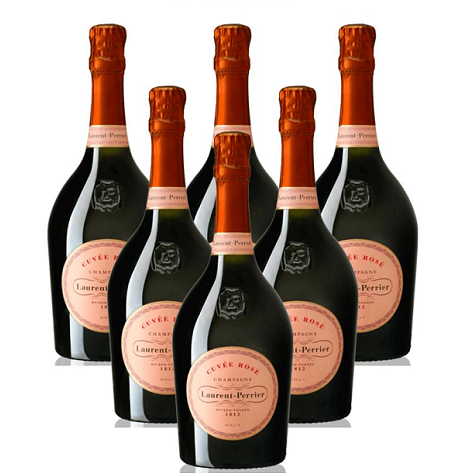 Laurent-Perrier Cuvée Rosé Brut NV 6 Champagne Case