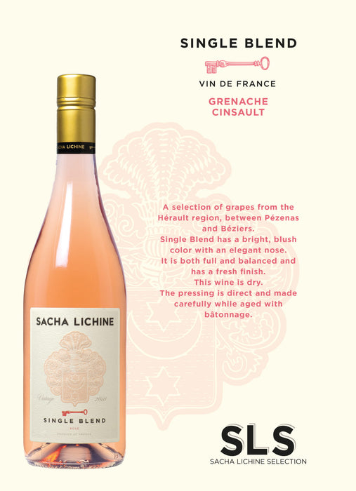 Sacha Lichine Single Blend Rosé 2017 Bottle 75cl