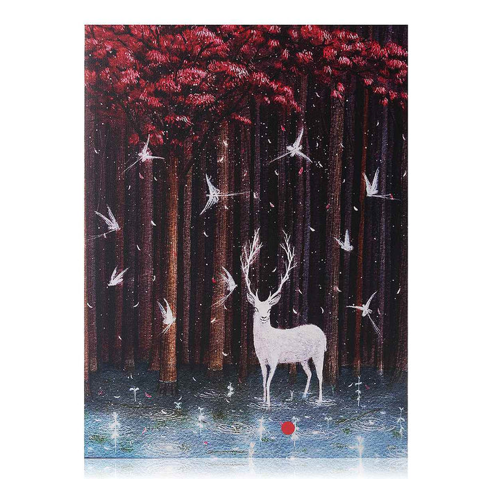 LED Lighted Mystic Winter Canvas