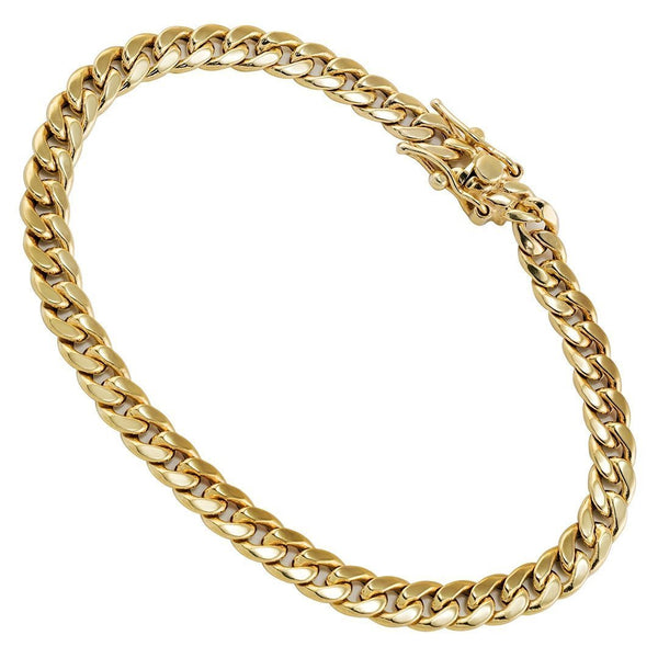 10k Yellow Gold Cuban Link Bracelet 5.5 mm