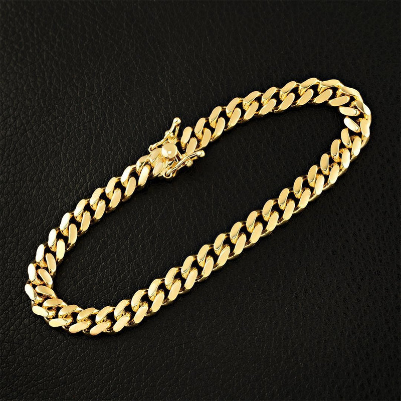 10k Yellow Gold Cuban Link Bracelet 6 mm