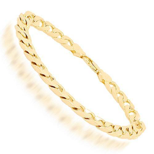 10K Yellow Solid Gold Mens Cuban Bracelet 7 mm