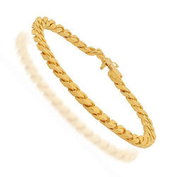 14K Solid Yellow Gold Mens Bracelet 6 mm