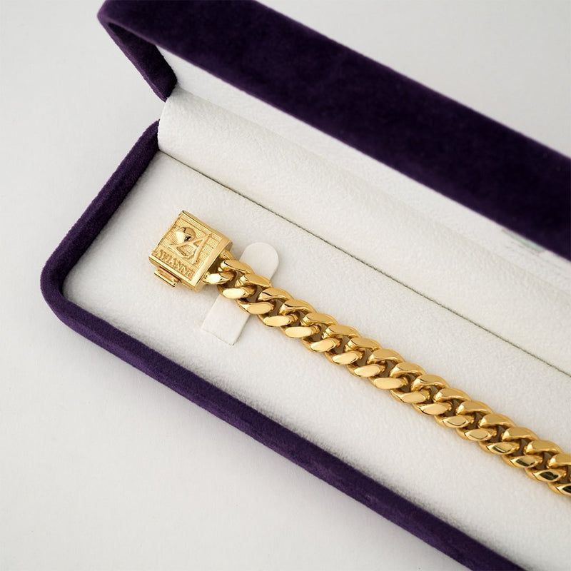 14k Yellow Gold Cuban Link Bracelet 8.5 mm