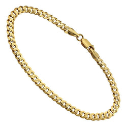 14k Yellow Gold Curb Link Bracelet 4.5 mm
