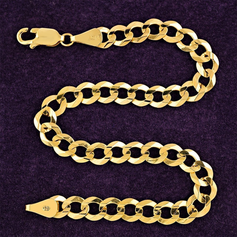 14k Yellow Gold Curb Link Bracelet 5.5 mm