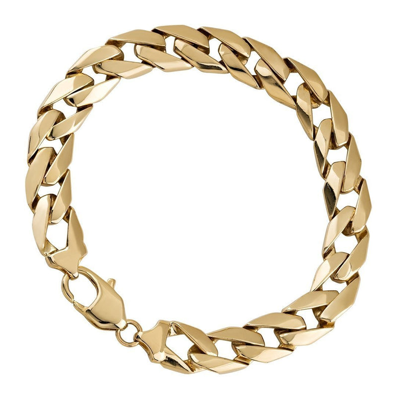 14k Yellow Gold Curb Link Bracelet 9.5 mm