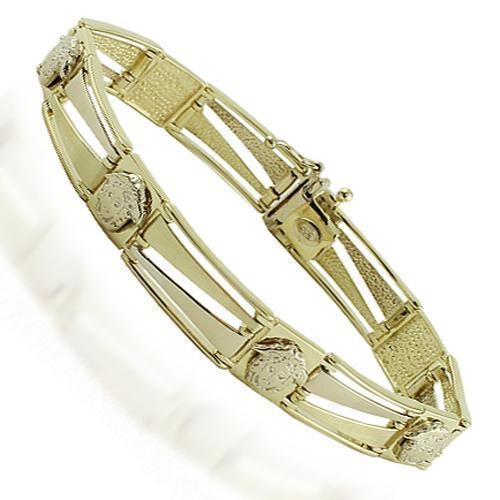 14K Yellow Gold Mens Fancy Bracelet 10 mm