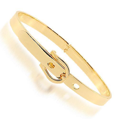 Yellow 14K Yellow Solid Gold Womens Bangle Bracelet