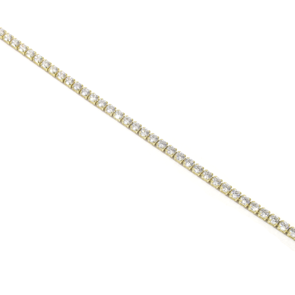 Yellow CZ Tennis Bracelet in 10k Yellow Gold