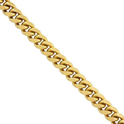 Mens Cuban Bracelet 6 mm 14K Yellow Solid Gold