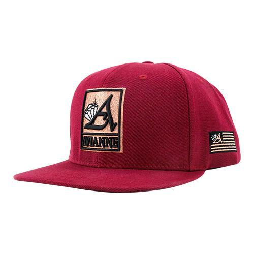 Avianne Burgundy Cap with Rose Logo