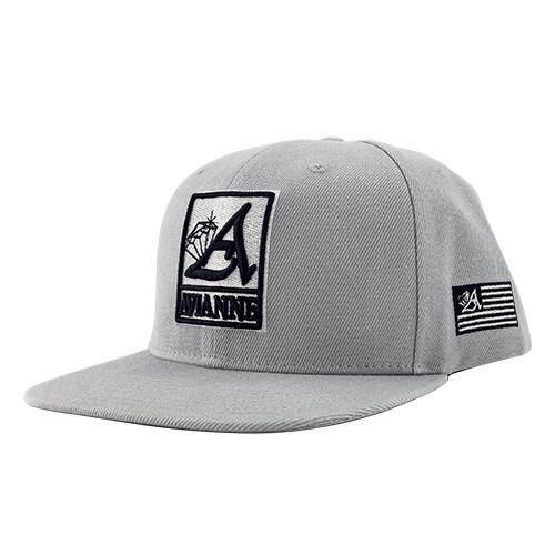 Avianne Gray Cap White Logo