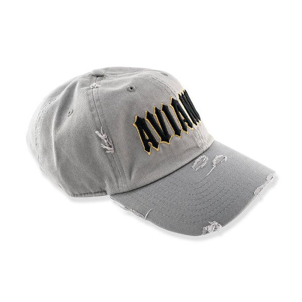 Avianne Gray Distressed Cap