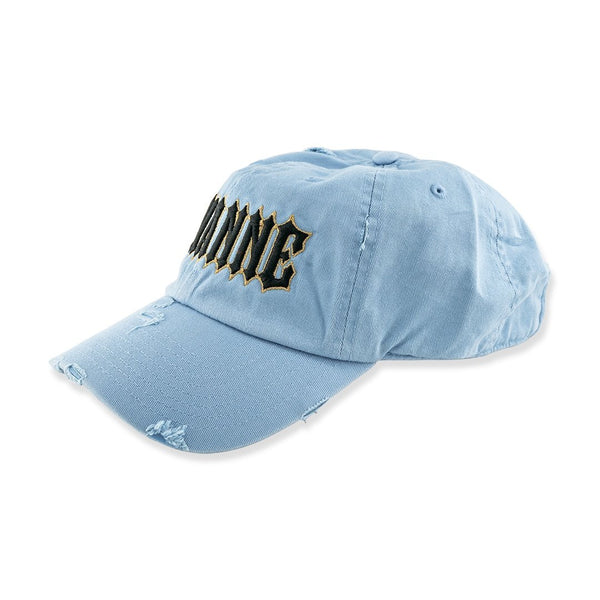 Avianne Sky Blue Distressed Cap