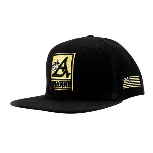 Black Avianne Cap with Yellow Logo
