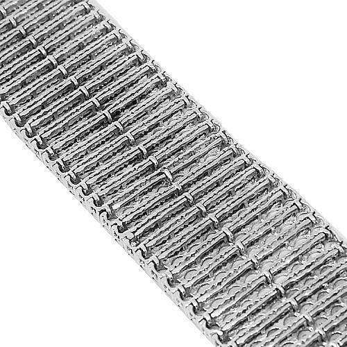 10K White Solid Gold Mens Diamond Bracelet 5.00 Ctw