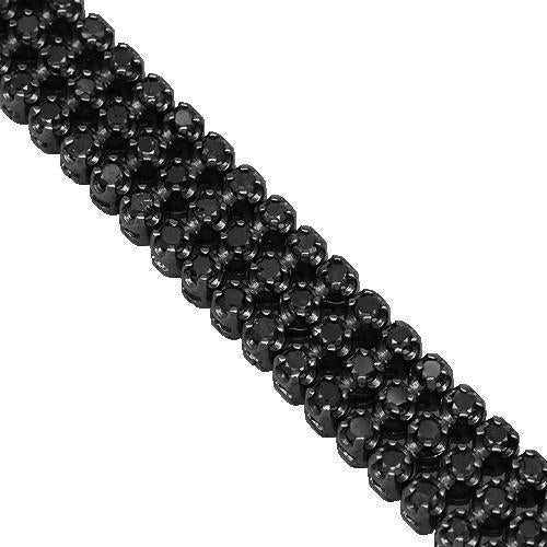 14K Black Rhodium Plated Black Diamond Bracelet 4.84 Ctw