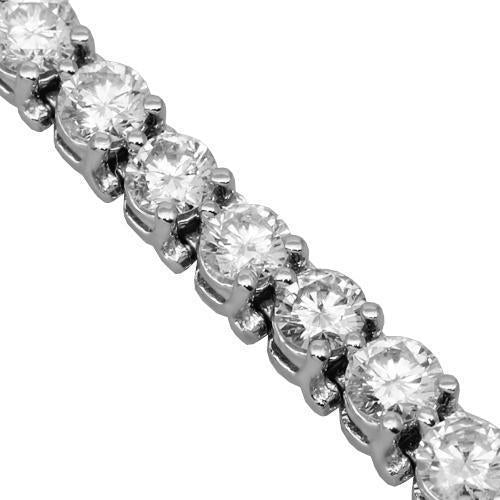 14K Solid White Gold Womens Clarity Enhanced Diamond Tennis Bracelet 8.25 Ctw