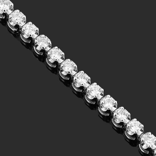 14K Solid White Gold Womens Diamond Tennis Bracelet 1.50 Ctw