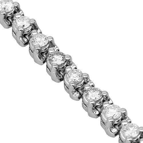 14K Solid White Gold Womens Diamond Tennis Bracelet 2.03 Ctw