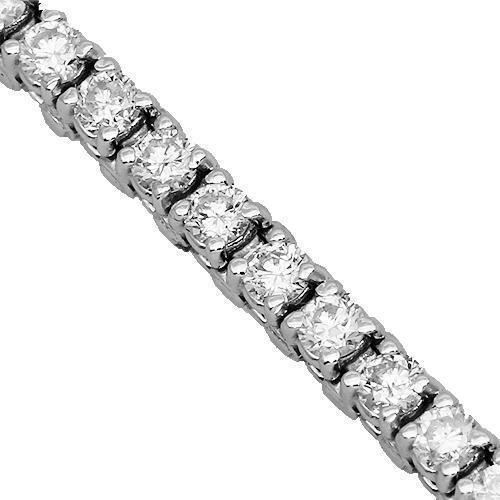 14K Solid White Gold Womens Diamond Tennis Bracelet 3.50 Ctw