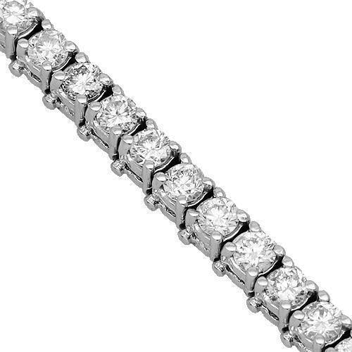 14K Solid White Gold Womens Diamond Tennis Bracelet 3.51 Ctw