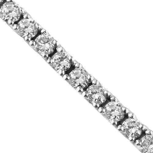14K White Solid Gold Diamond Tennis Bracelet 2.76 Ctw