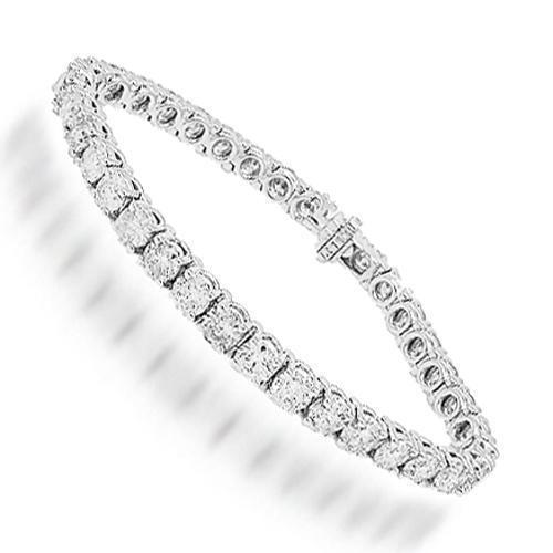 14K White Solid Gold Womens Diamond Tennis Bracelet 15.03 Ctw