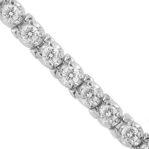 14K White Solid Gold Womens Diamond Tennis Bracelet 2.75  Ctw