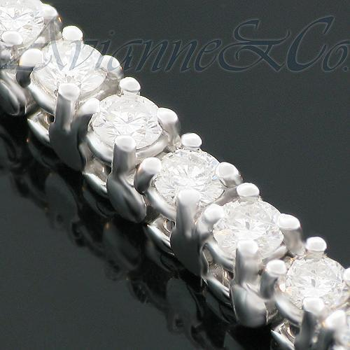 14K White Solid Gold Womens Diamond Tennis Bracelet 3.00 Ctw