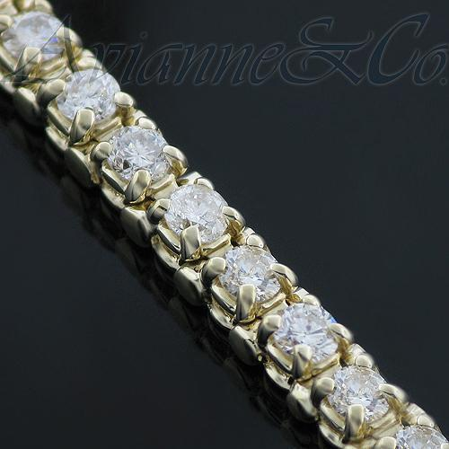 14K Yellow Solid Gold Womens Diamond Tennis Bracelet 3.00 Ctw
