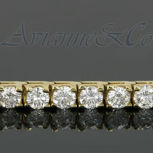 14K Yellow Solid Gold Womens Diamond Tennis Bracelet 8.35 Ctw