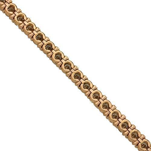 Diamond Tennis Bracelet in 14k Rose Gold 15 Ctw