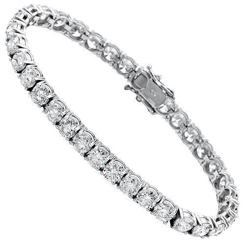 Diamond Tennis Bracelet in 14k White Gold 15 Ctw