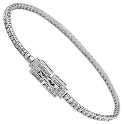 Diamond Tennis Bracelet in 14k White Gold 5 Ctw